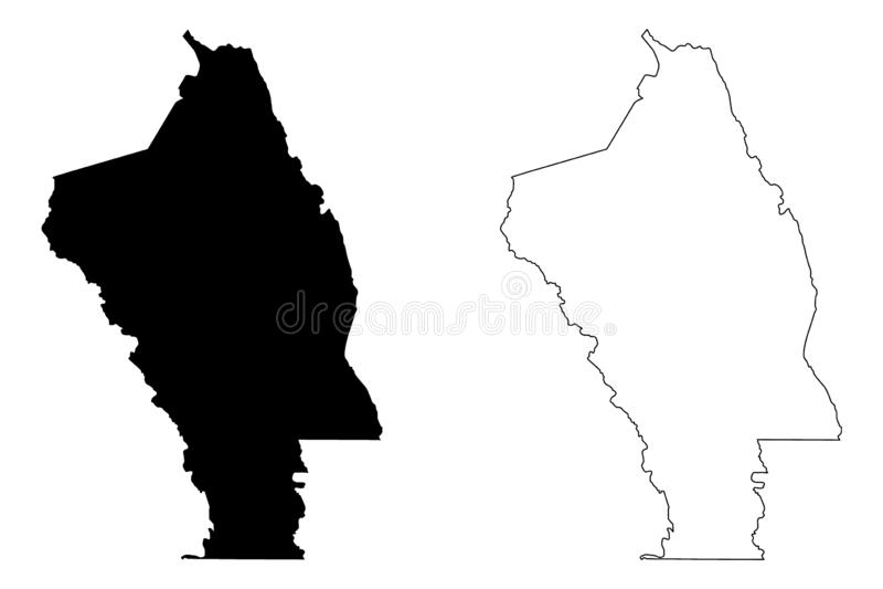 Vetor do mapa de Napa County, Califórnia ilustração royalty free