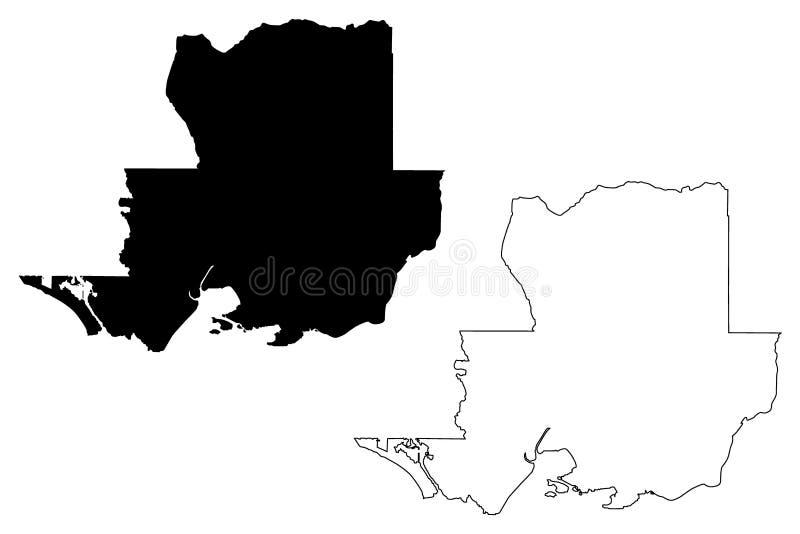 Vetor do mapa de Solano County, Califórnia ilustração stock