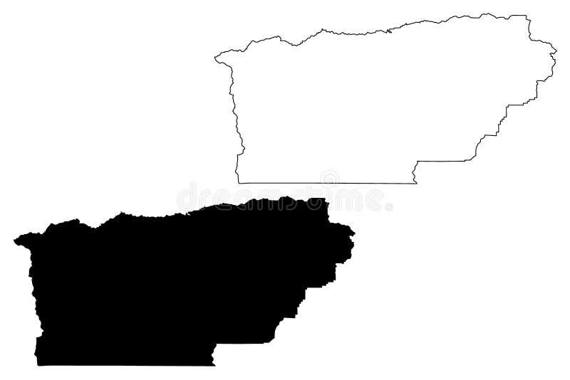 Vetor do mapa de Tehama County, Califórnia ilustração royalty free
