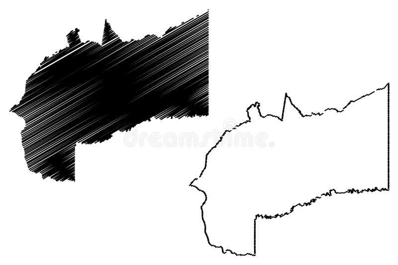 Vetor do mapa do departamento do meta ilustração royalty free