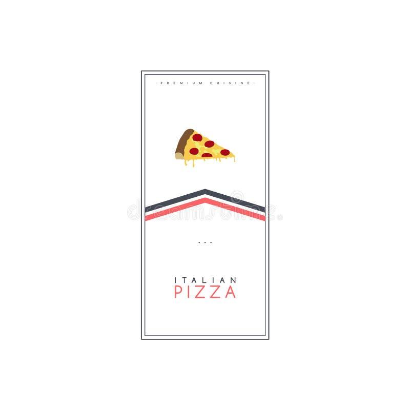 vetor do molde do cartaz do folheto do alimento da pizza e do inseto do tema da bebida ilustração stock