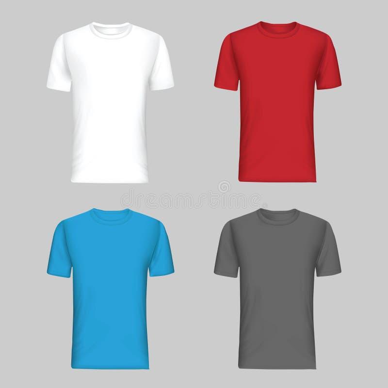 Vetor do molde da camisa ilustração stock