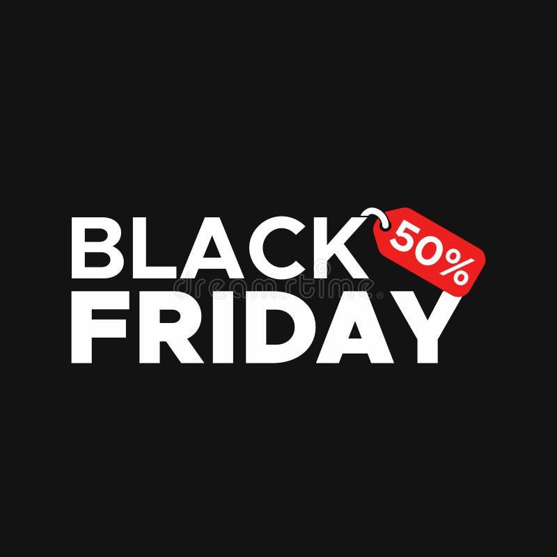 Vetor do molde da venda do Promo do bilhete da etiqueta de Black Friday ilustração royalty free