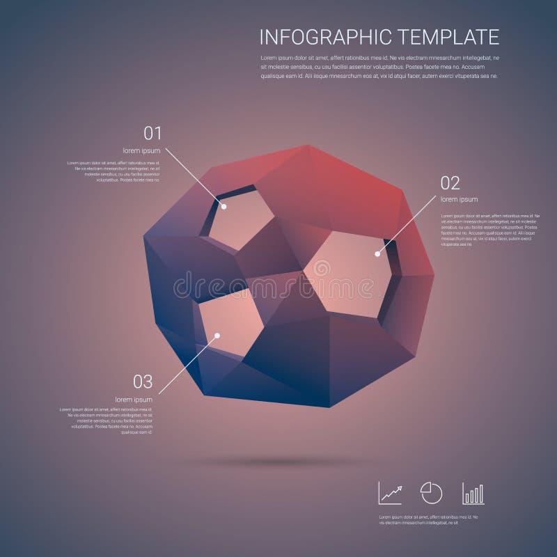 Vetor do molde de Infographics Elementos de Infographic ilustração stock