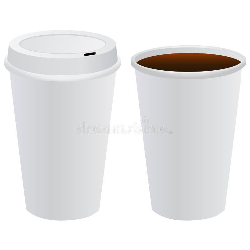 Vetor do molde do copo de café ilustração royalty free