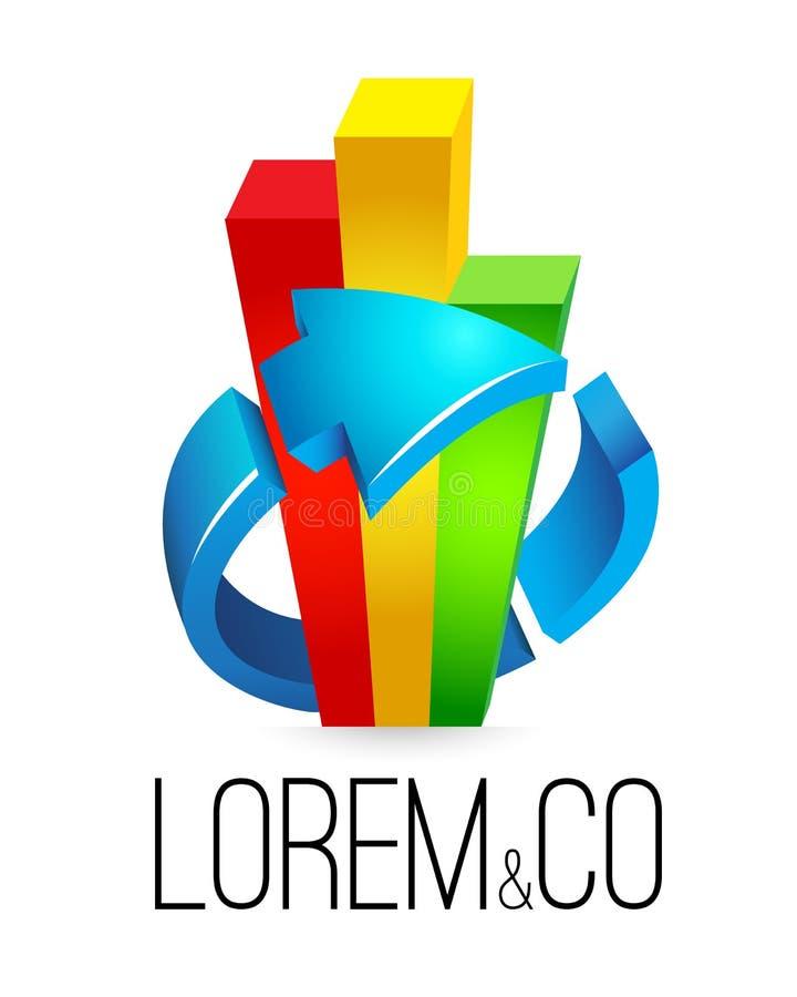 Vetor do molde do logotipo, contabilidade, contabilidade, seo, negócio ilustração do vetor