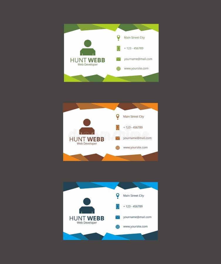 Vetor do molde do negócio do cartão da identificação fotos de stock