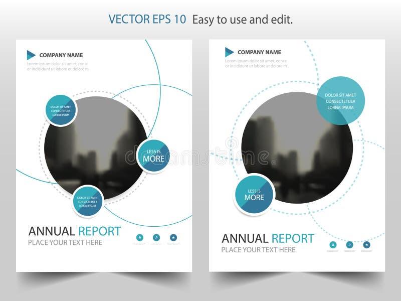 Vetor do molde do projeto do folheto do informe anual de Blue Circle Cartaz infographic do compartimento dos insetos do negócio M ilustração do vetor