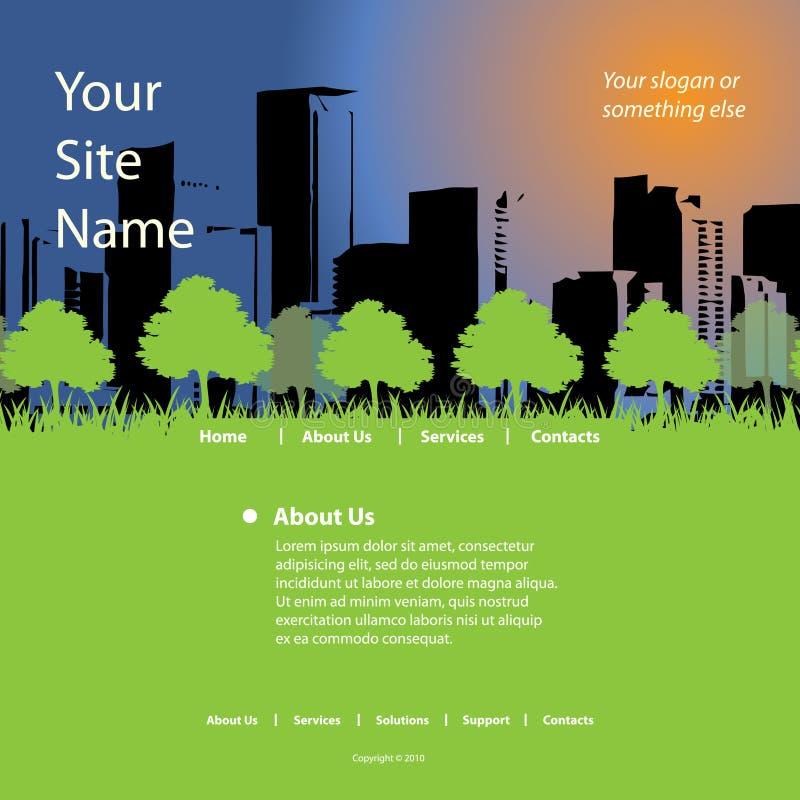 Vetor do molde do Web site ilustração royalty free