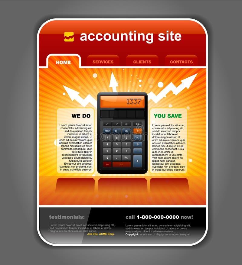 Vetor do molde do Web site da contabilidade da finança ilustração royalty free