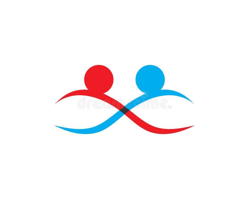 Vetor do molde do logotipo da ado??o e dos cuidados comunit?rios ilustração royalty free