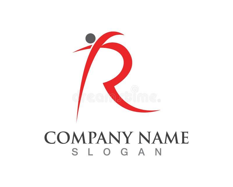 Vetor do molde do logotipo dos povos da letra de R ilustração royalty free