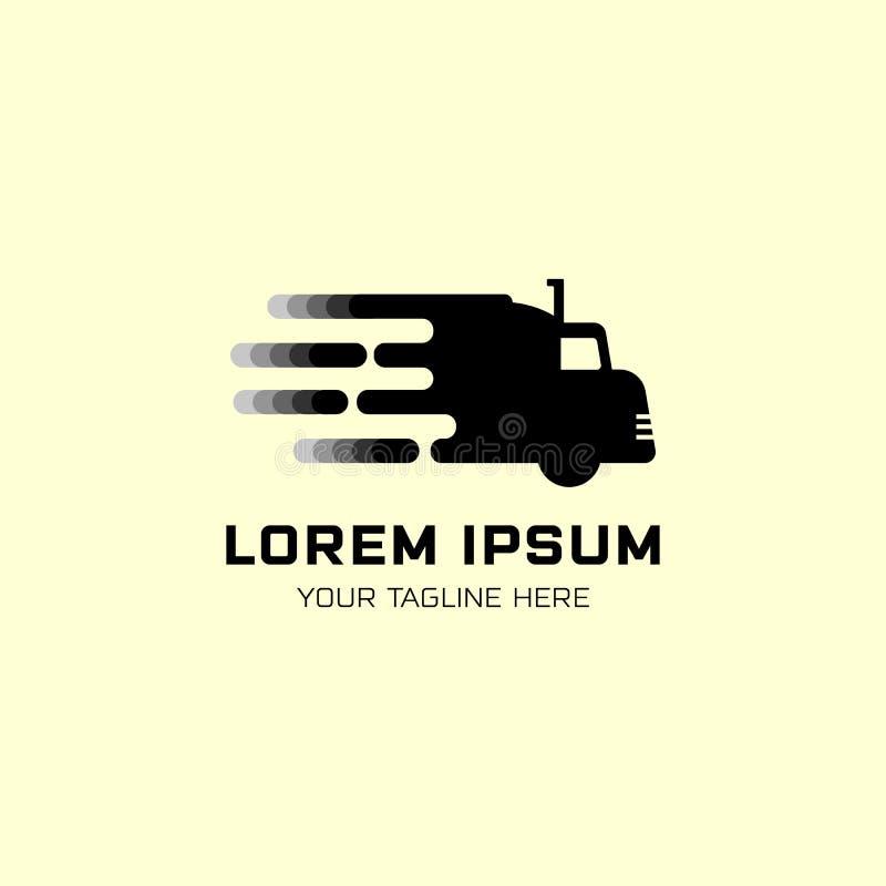 Vetor do molde do logotipo do sumário da silhueta do caminhão, símbolo rápido ilustração do vetor