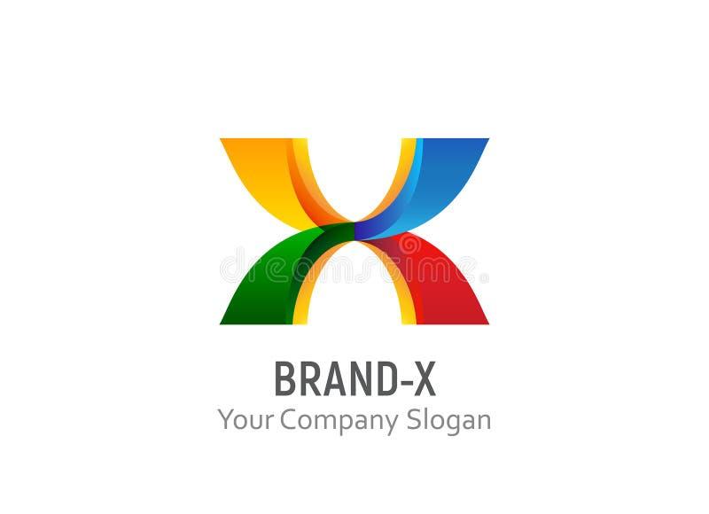 Vetor do molde do logotipo do tipo X ilustração stock