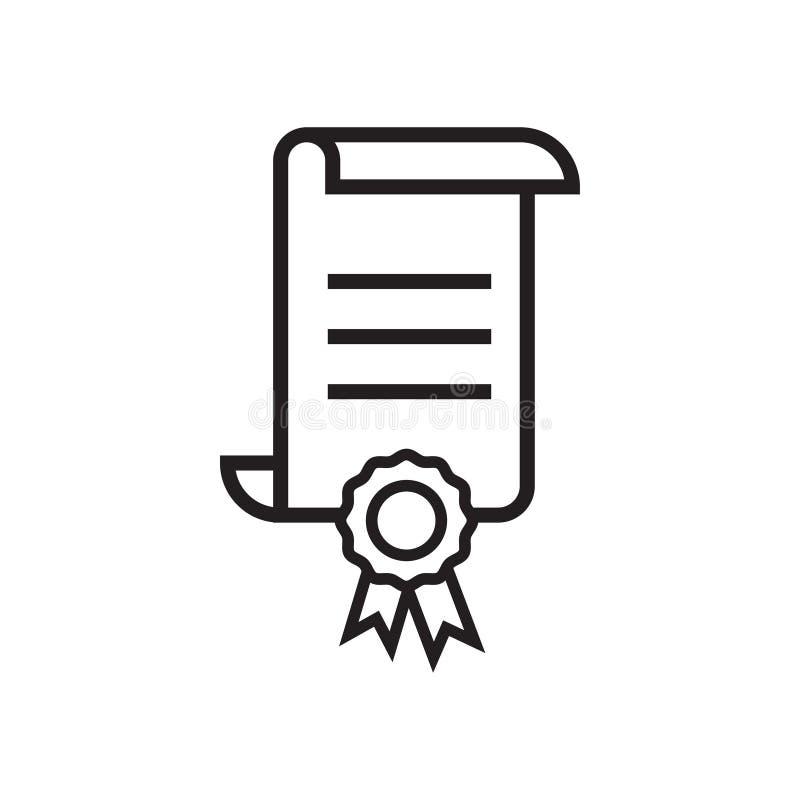 Vetor do molde do projeto gráfico do ícone do certificado ilustração stock