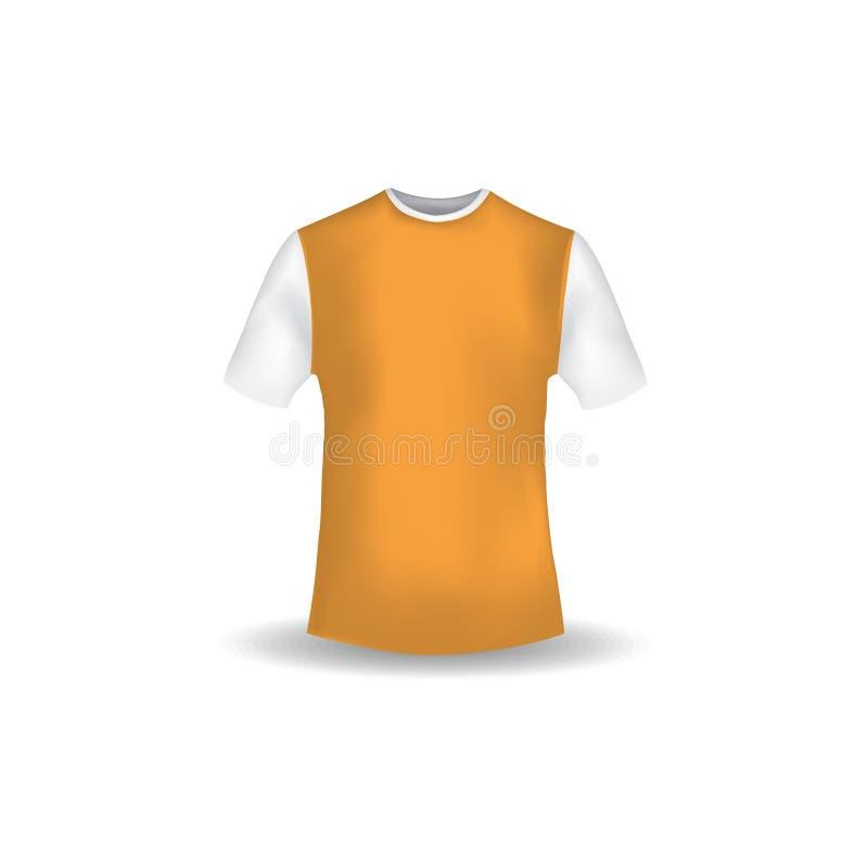 Vetor do molde do projeto do modelo da camisa de T ilustração royalty free