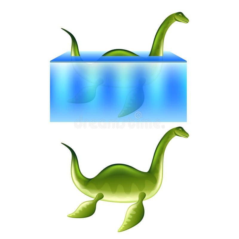 Vetor do monstro de Nessie Loch Ness ilustração do vetor
