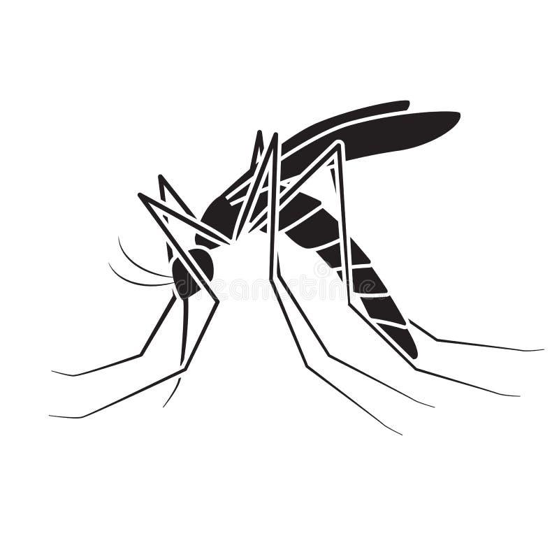 Vetor do mosquito, sinal ilustração do vetor