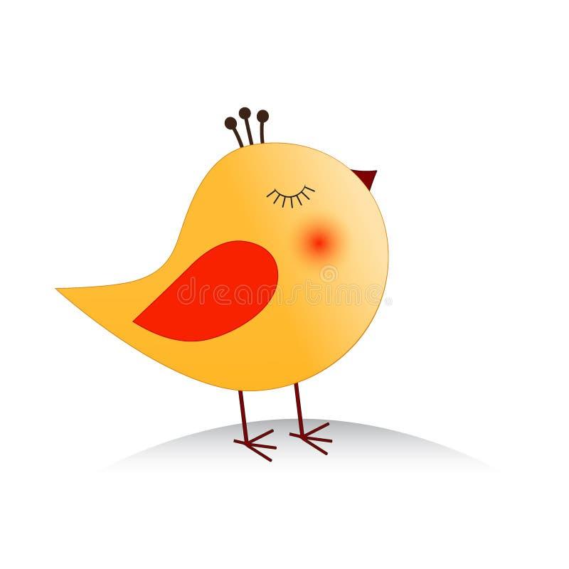 Vetor do pássaro da princesa ilustração stock