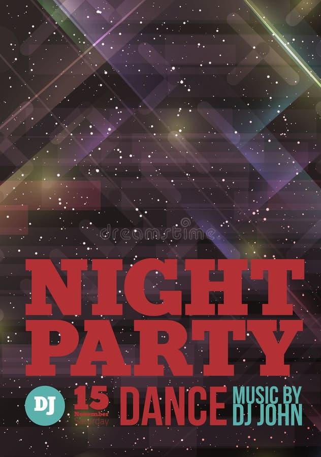 Vetor do partido da noite ilustração do vetor