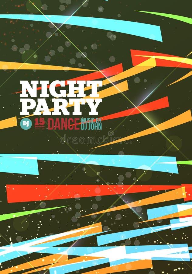 Vetor do partido da noite ilustração stock