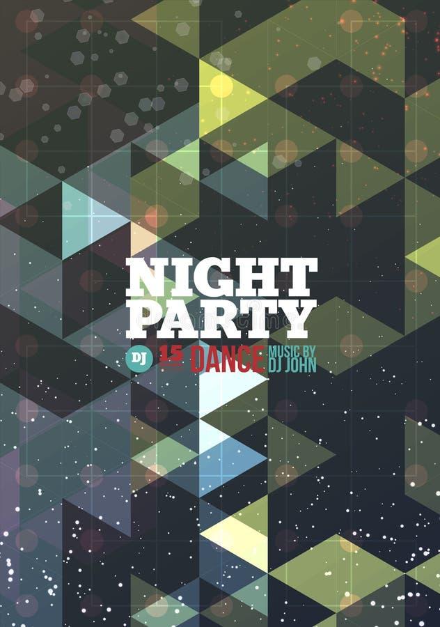 Vetor do partido da noite ilustração royalty free