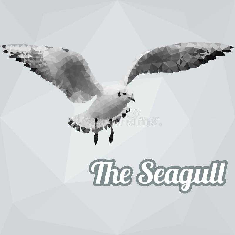 Vetor do polígono da gaivota ilustração royalty free