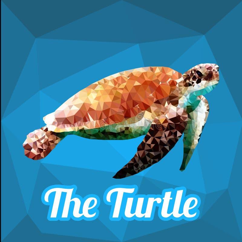 Vetor do polígono da tartaruga ilustração do vetor