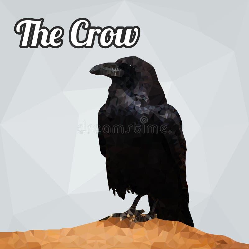 Vetor do polígono do corvo ilustração royalty free