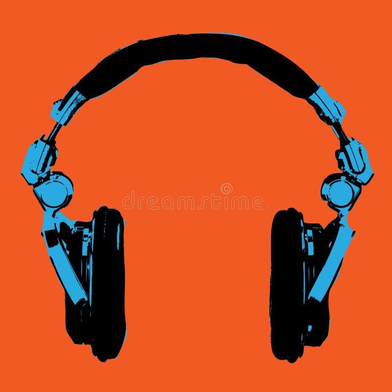 Vetor do pop art dos fones de ouvido ilustração do vetor
