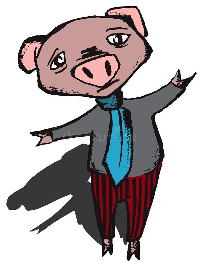 Vetor do porco da neutralização ilustração royalty free