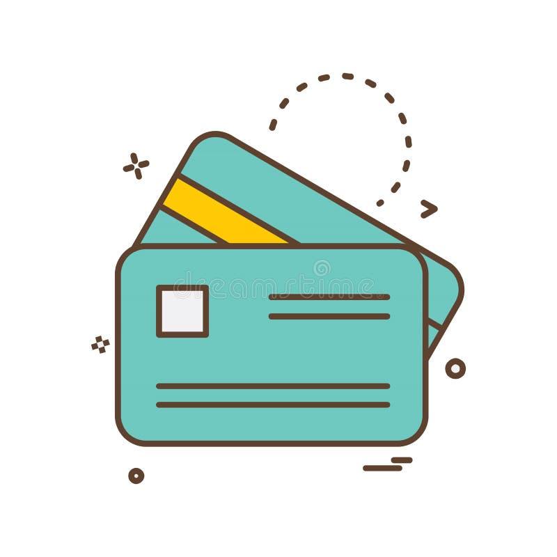 Vetor do projeto do ícone do cartão de crédito ilustração royalty free