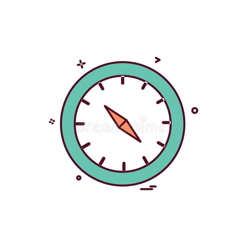 Vetor do projeto do ícone do compasso ilustração stock