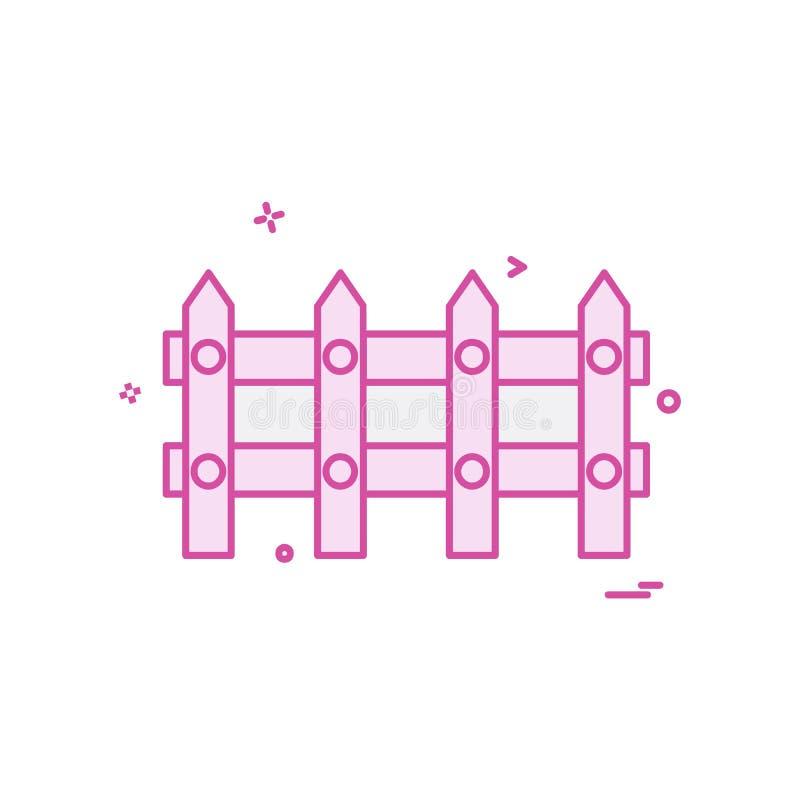 Vetor do projeto do ícone da parede de limite ilustração stock