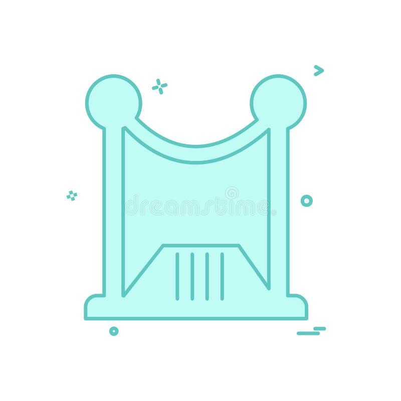 Vetor do projeto do ícone da parede de limite ilustração do vetor