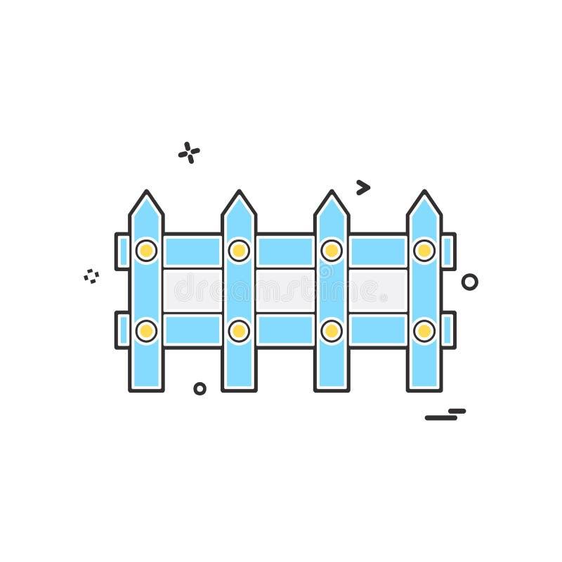 Vetor do projeto do ícone da parede de limite ilustração royalty free