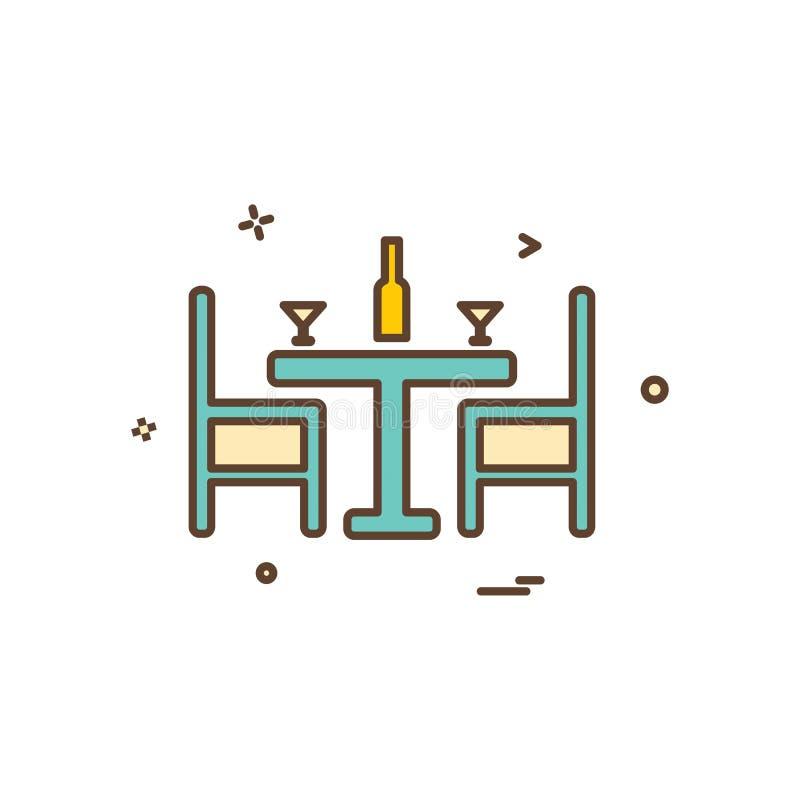 Vetor do projeto do ícone de Dinning ilustração stock