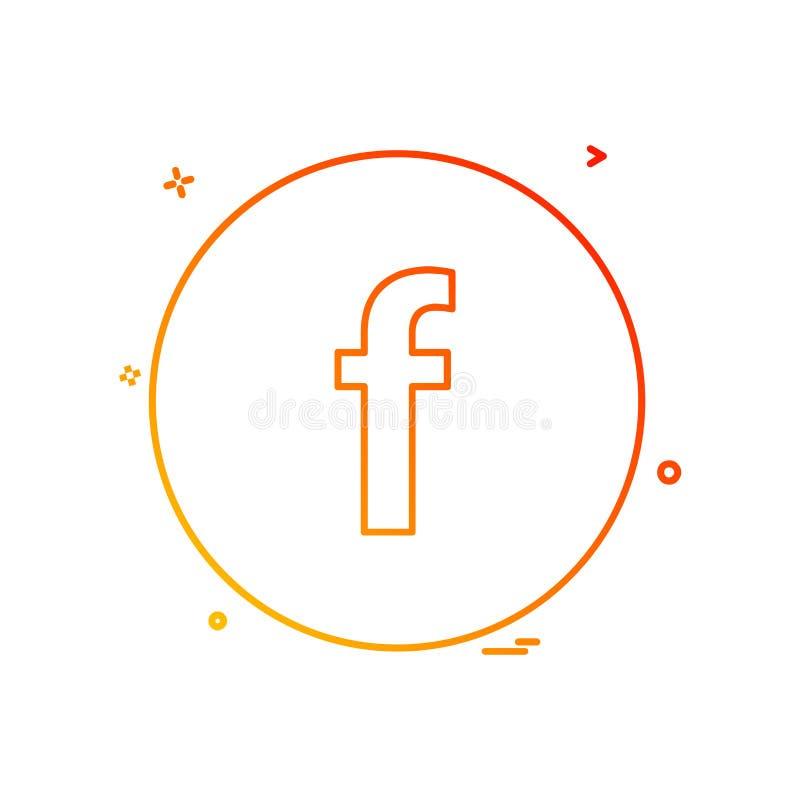 Vetor do projeto do ícone de Facebook ilustração royalty free