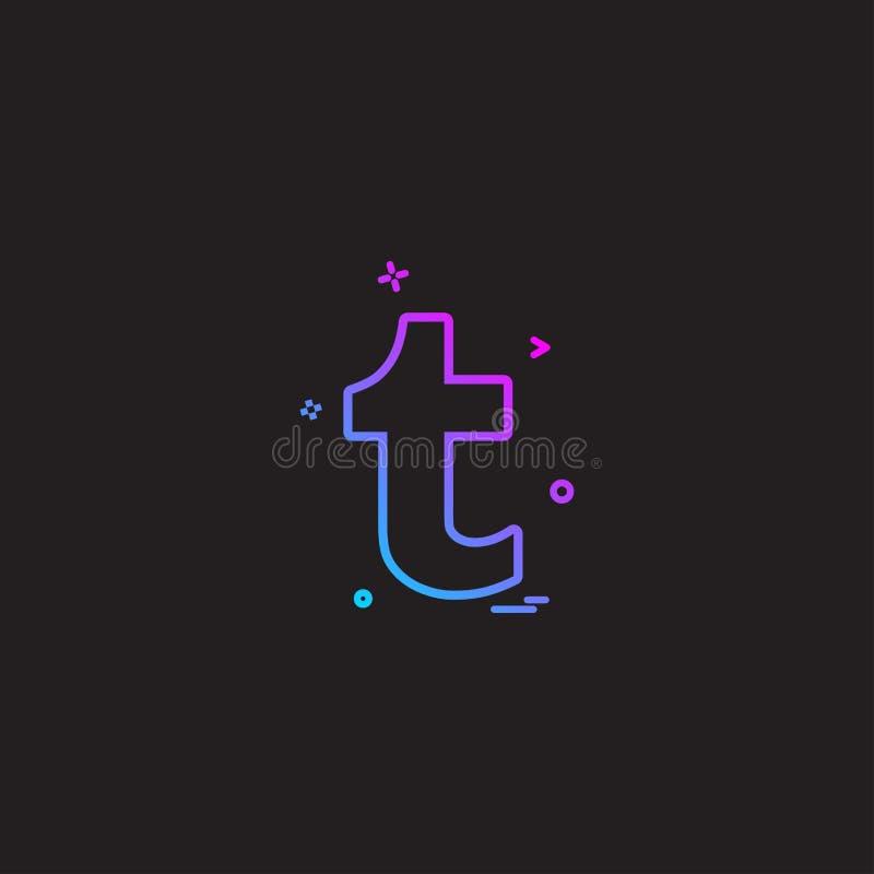 Vetor do projeto do ícone de Tumblr ilustração stock