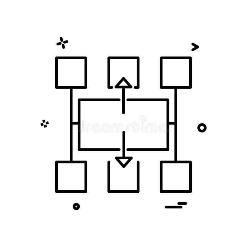 Vetor do projeto do ícone do fluxograma ilustração do vetor