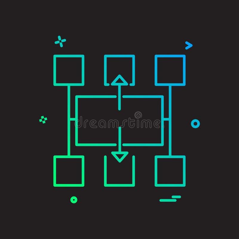 Vetor do projeto do ícone do fluxograma ilustração royalty free