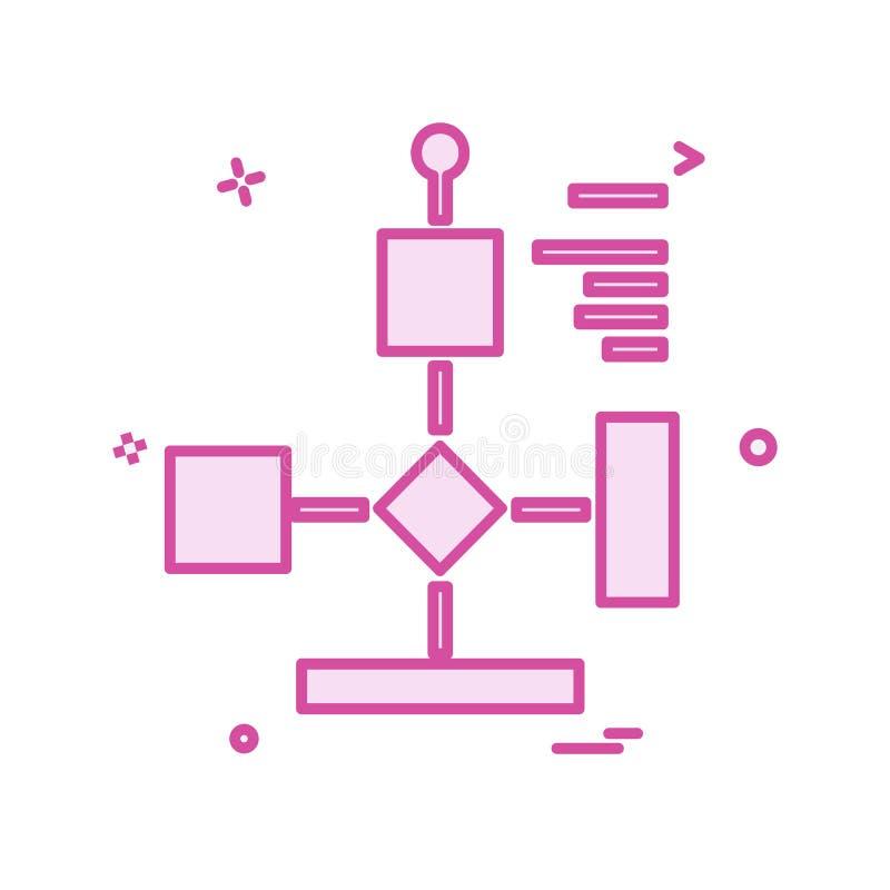 Vetor do projeto do ícone do fluxograma ilustração stock