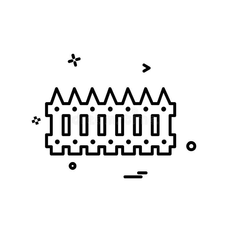 Vetor do projeto do ícone do limite da parede ilustração royalty free