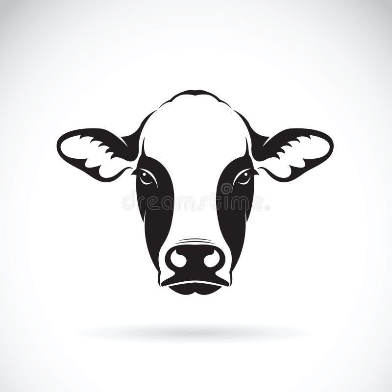 Vetor do projeto da cara da vaca no fundo branco animal ilustração royalty free
