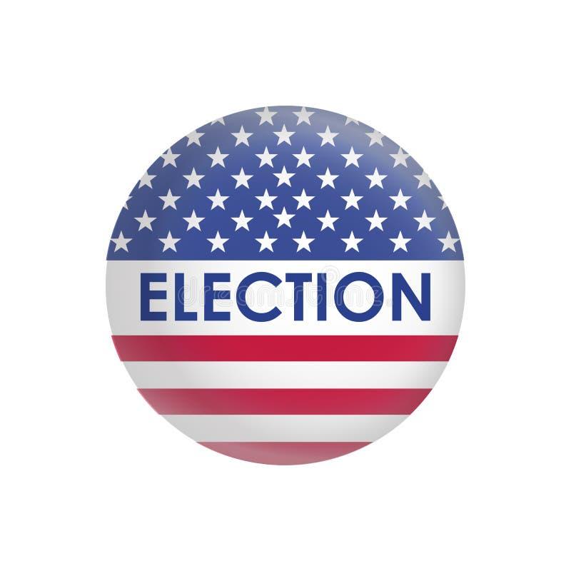 Vetor do projeto da eleição presidencial dos EUA ilustração royalty free