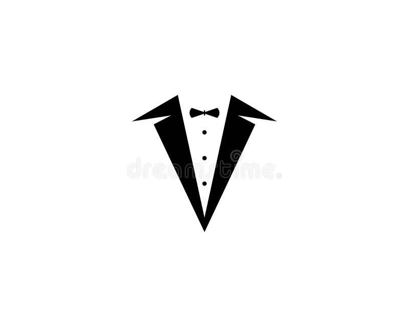 Vetor do projeto da ilustração do ícone do vetor do molde do logotipo do smoking ilustração royalty free