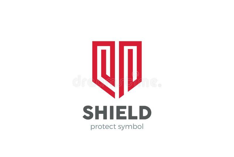 Vetor do projeto do logotipo do protetor Agente de segurança legal da lei ilustração stock