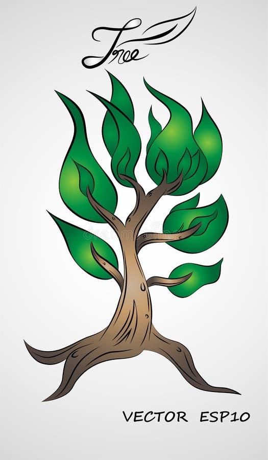 Vetor do projeto gráfico da ilustração da árvore foto de stock royalty free