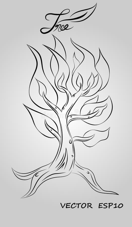 Vetor do projeto gráfico da ilustração da árvore fotografia de stock royalty free