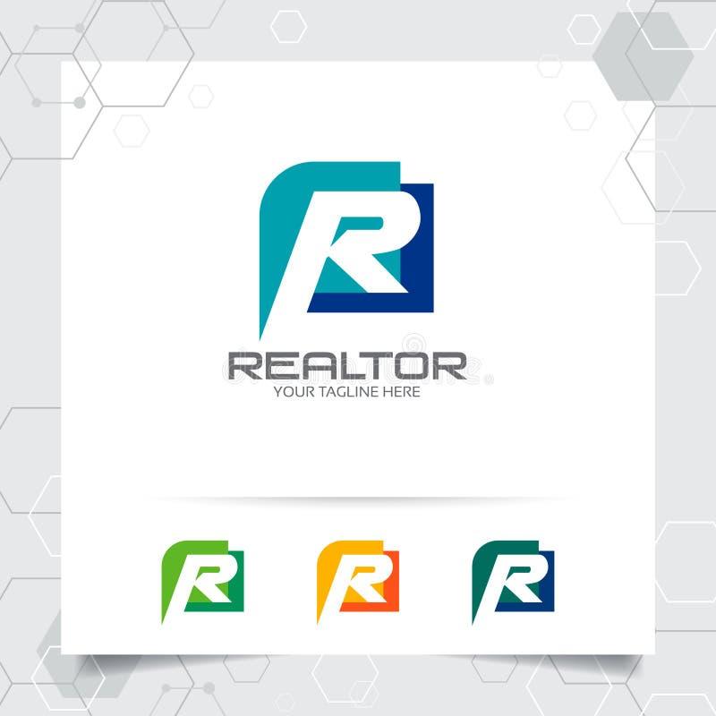 Vetor Do Projeto Do Logotipo Da Letra R Da Finan?a Do Neg ...
